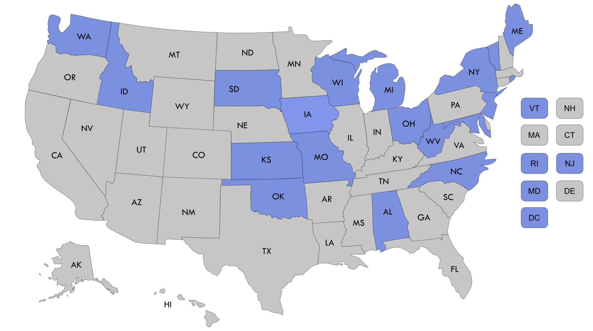 State Delivery System and Payment Reform Map