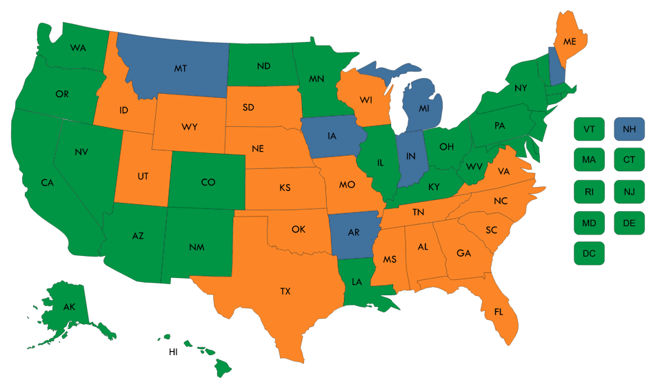 Where States Stand on Medicaid Expansion Decisions