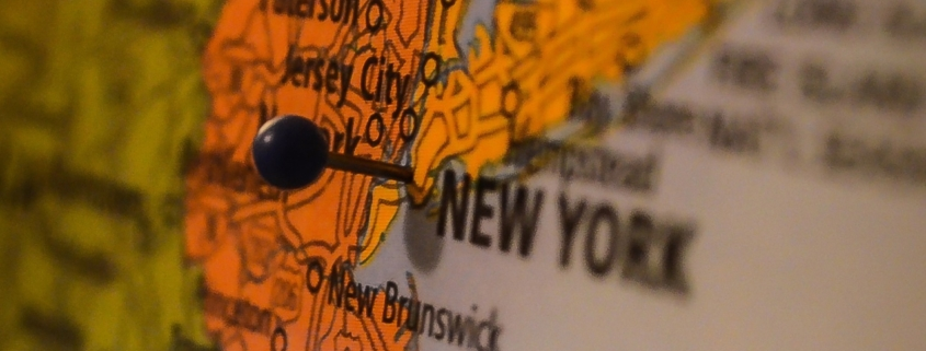 pin in map of new york