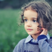 wistful child